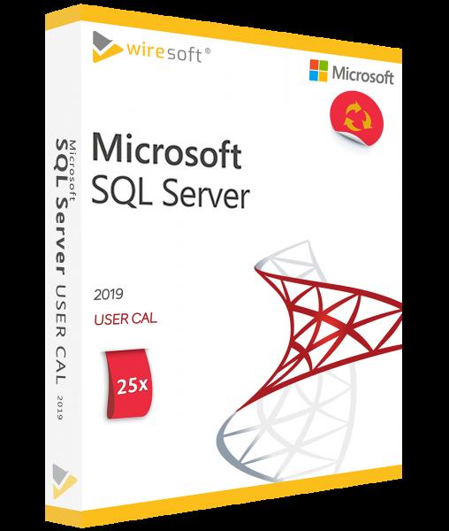 MICROSOFT SQL SERVER 2019 - 25 PACK USER CAL