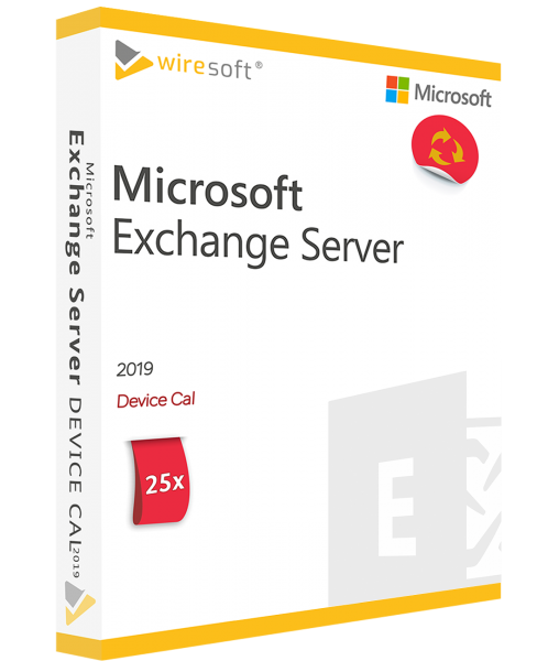 MICROSOFT EXCHANGE SERVER 2019 - 25 PACK DEVICE CAL