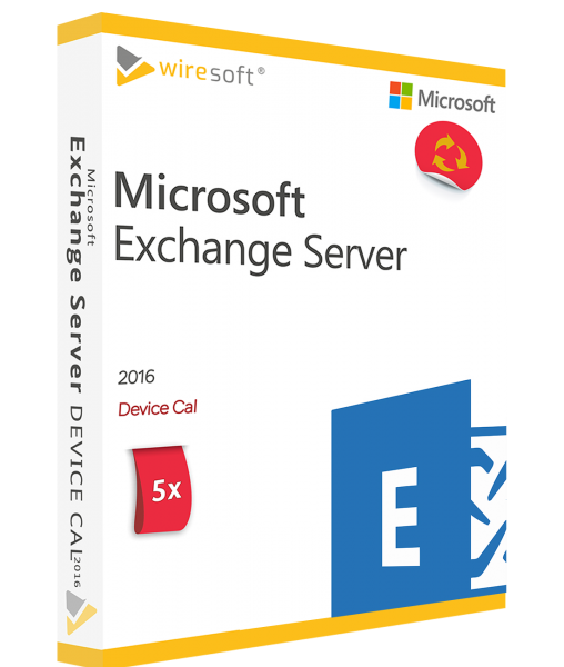MICROSOFT EXCHANGE SERVER 2016 - 5 PACK DEVICE CAL