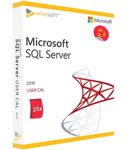 MICROSOFT SQL SERVER 2016 - 25 PACK USER CAL